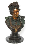 Bronze Bust, Nobleman, Rancoulet Signed, Patinated Handsome, 1900's, Antique