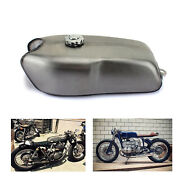 9l/2.4gal Universal Cafe Racer Gas Fuel Tank For Bmw For Honda For Yamaha