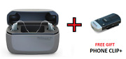 2 Resound Linx Quattro 9-rechargeable Hearing Aids +free Charger And Phone Clip+