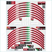 Aprilia Racing Red Italy Stickers Motorcycle Laminated Wheel Rim Decals Stripes