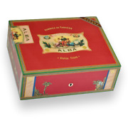 Cigar Humidor Elie Bleu Red Sycamore Holds 75 Cigars Alba Collection
