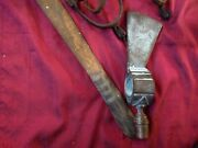 Rare Unfinished Pipe Tomahawk Bronze Axe Head+antique Primitive Native Knife Saw