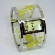 Von Dutch Yellow Bang Collection Watch - Mother Of Pearl - Hand Painted