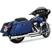 Vance And Hines - 17583 - Pro Pipe Exhaust System Chrome Harley Road King Efi Flh