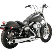 Vance And Hines - 17569 - Pro Pipe Exhaust System, Chrome Harley Wide Glide Efi Fx