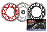 Renthal Grooved / Twinring Sprocket And R3-3 O-ring Chain Kit For Honda Crf450x