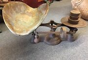 Antique Weight Scale Counter Balance Troemner Bakery General Store