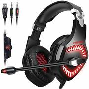 Onikuma Gaming Headset Xbox One For Ps4 With Noise Canceling Microphone 7.1