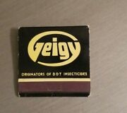 Matchbook Geigy Agricultural Chemicals Ardsley Yonkers New York Ddt Insecticide