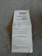 Fluke 80tk Thermocouple Module Instructions Sheet Preowned Good Condition