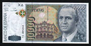 Spain 10000 Pesetas P-166 1992 Astronomy With Let Pfx.6 Digit Euro King Unc Note