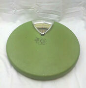 Vintage Green Round Retro Bathroom Scale Golden Dolphin Tested Works Chicago Il