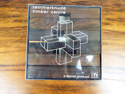 Vintage Mcm Danish Wooden Tommerknude Timber Center Wood Puzzle Game Mid Century