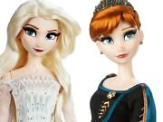 In Hand Disney Elsa Snow Queen And Anna Limited Edition Doll Set Frozen 2 New