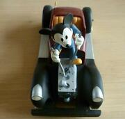 Extremely Rare Disney Mickey Mouse Repairing His Car Demons And Merveilles Statue
