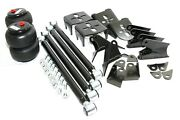 Weld On Triangulated Mount Bracket+2x2500 Lb Air Bags+4 Link Kit For 2.75axle