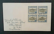 1949 Manakau New Zealand To New South Wales Australia 4 Same Stamps Cover