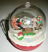 1992 Hallmark Christmas Ornament Forest Frolics Magic Lights And Motion Works