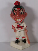 1940s Stanford Pottery Boston Braves Gold Tooth Indian Bank Black Braves Logo