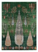 Green Color 5and0397and039and039x7and03910and039and039 Ft Cypress Tree Antique Style Hand Knotted Area Rugs