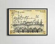 1893 Schneider Beer Brewing Patent Poster Up To 24 X 36 - Brewery - German