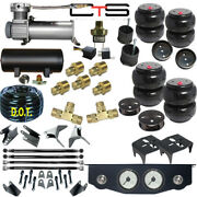 V Air Ride Suspension Mini Toggle Valve 1/4 Manual 3gal Bags Brackets And 4 Link