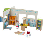 Haba Little Friends Veterinary Clinic Play Set With Vet Figure And Accessories