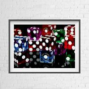 Las Vegas Nevada Dice Casino City Poster Picture Print Sizes A5 To A0 New