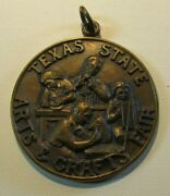 Rare 1976 James Avery Texas State Arts And Crafts Fair Kerrville Tx Pendant Medal