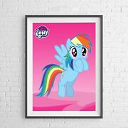 My Little Pony Character Rainbow Dash Poster Picture Print Sizes A5 To A0 New