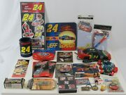 Jeff Gordon 24 Nascar Tin Stickers Cards Phone Knife Keychain Collectibles Lot
