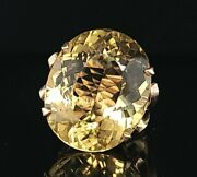Gorgeous Vintage 14k Yellow Gold  Ring 39ct. Natural Yellow Beryl Oval Shape