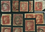 Gb Qv Penny Reds Dated Or Circular Cancels ...each Priced Individually