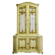 Cabinet Bar Provincial Style Louis Xv Style Gilt Paint Decorated Vintage