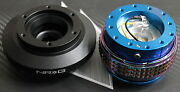 Nrg Steering Wheel Quick Release Hub 2.1 Blue-neo For Bmw E46 Fitsbmw
