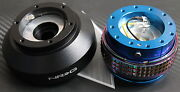 Nrg Steering Wheel Quick Release Hub 2.1 Blue-neo For Bmw E30 Fitsbmw