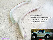 1co Silver Front 3 Fender Flares For Toyota Hilux Mk4 Mk5 97-05 Ln165 Ln167