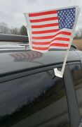 Car Window Clip On American Flag All Vehicles - Patriot Dealerships Qty Of 1