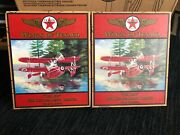 Lot Of 5 Wings Of Texaco Die-cast Coin Banks And Crayola Limited 132 Planes New