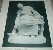 1892 Antique Print A Mother Statue By Lenoir Luxembourg Gallery Paris France