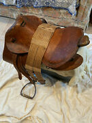 Ww 2 Vintage Collector Japanese Military Officers Saddle Excellent