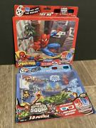 Lot Of 2 Marvel Super Hero Squad And Spider-man 3d Puzzles W/3d Glasses New