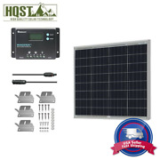 Hqst 50w Watt 12v Poly Solar Panel Kit With Renogy 10a Pwm Charge Controller