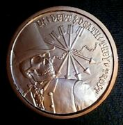 Ssbs 2013 1 Oz Copper Silver Bullet Silver Shield In Debt And Death They Trust