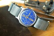 Menand039s Vintage Pobeda Mason Watch Mens Wrist Watch Vintage Soviet Ussr Rare Watch