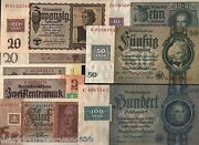 Germany 1 2 5 10 20 50 100 Marks Set P1 2 3 4 5 6 7 1948 Wwii Unc W/stamp Russia