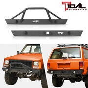 Tidal Fit For 84-01 Jeep Cherokee Xj Off-road Front Bumper And Rear Bumper
