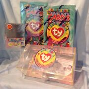 Ty 4/lot 2 Ty Card Boxes, 1 Card Storage Box, 1 Pkg 25 Card Protectors 36.99