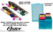 Oster 10 Stainless Steel Attachment Guide Comb Setfit A5a6many Andis Clippers