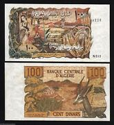 Algeria 100 Dinars P128 1970 X 50 Pcs Lot Original Half 1/2 Bundle Deer Unc Note